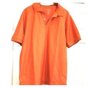 Orange LLbean polo